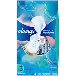 Always Infinity Pads, with FlexFoam, Flexi-Wings, Extra Heavy Flow, Unscented, Size 3 - 28 pads