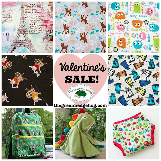 Friday De-Stash Additions + Valentine's Day Fabric & Pattern Sale!