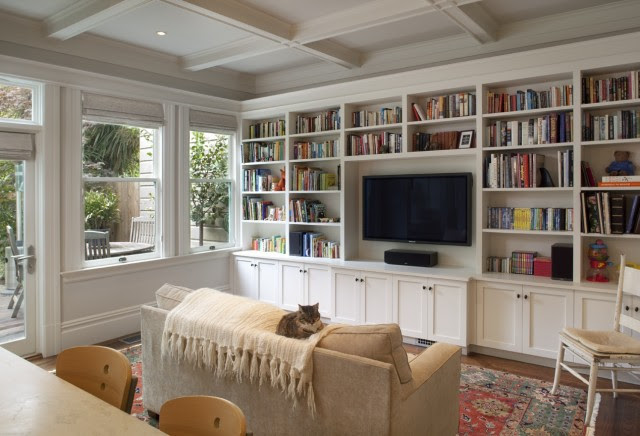 Built In Living Room - Cabinets - Traditional - living room - Gast ...