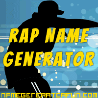Get your own rapper name from the rap name generator!