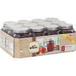 Kerr Mason Jars, Regular Mouth, Pint - 12 jars