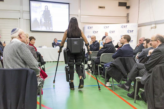 Paralysed 'robocop' presented with Israeli-invented suit allowing her to walk again