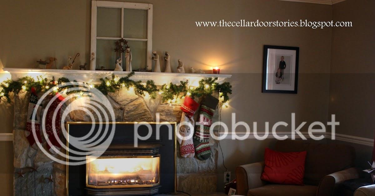 The Cellar Door Stories Christmas Mantel