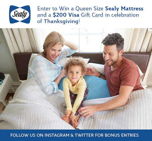 "The Sealy Canada® ""Something to be Thankful For Contest"""