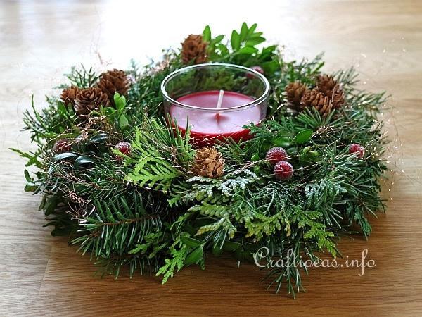 Red Christmas Centerpiece
