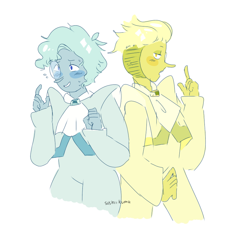 changed my style up a bit for this drawing lol ALSO ILL DRAW THEM WITH THEIR HOODS SOON I PROMISE i wanna call the ship bellow zircon?? idk but people are still arguing if yellow zircon is green or...