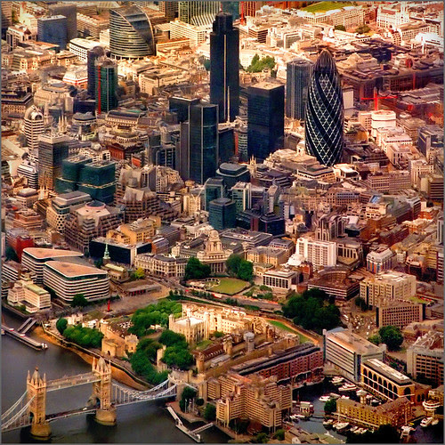 Aerial map, London - 5-2 por Katarina 2353