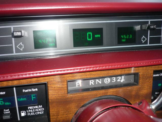 1990 Cadillac DeVille 44,500 Original Miles Red/White ...