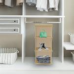 Lavish Home 83-74 Hanging Closet Organizer - 3 Deep Shelf Storage