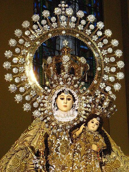 Our Lady of the Most Holy Rosary of La Naval de Manila in Sto. Domingo Church, Quezon City, Philippines. Photo by Interaksyon