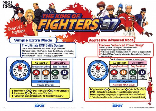 KOF '97 Controles
