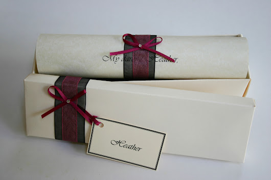 Valentines Day personalised scroll