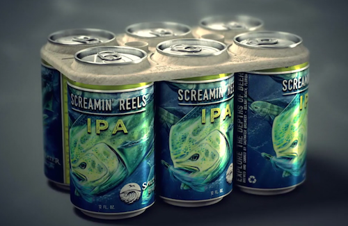 Saltwater Brewery Creates Edible Six-Pack Rings | CraftBeer.com