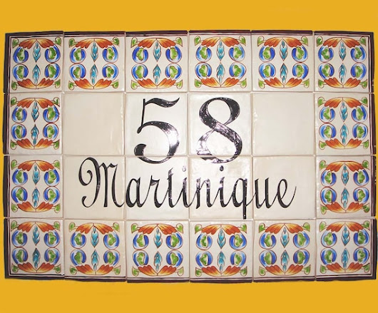 House numbers Hand painted individual porcelain size 4 x
