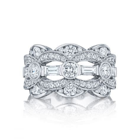 TACORI STYLE #HT2618B12 BEZEL AND PAVE? SET SCALLOPED