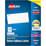 "Avery Easy Peel Return Address Labels, 1/2""x1-3/4"" 8,000 Labels (5167)"