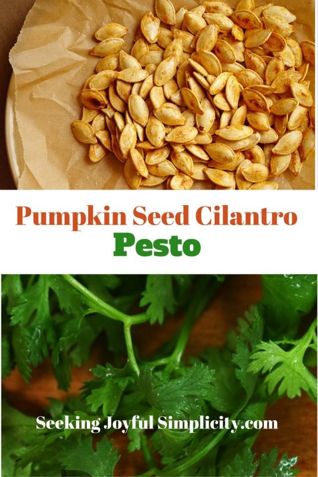 Pumpkin Seed Cilantro Pesto
