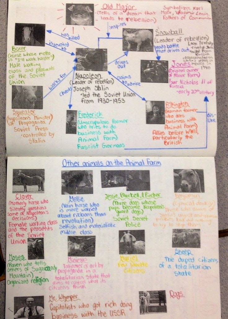 Animal Farm Character Map Grade 10 Student Dw Poppy