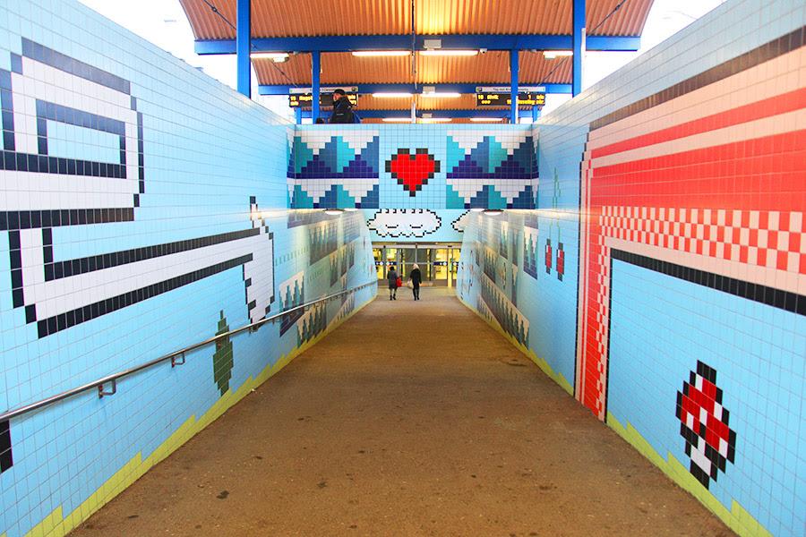 Resultado de imagem para estação Thorildsplan do metrô Estocolmo