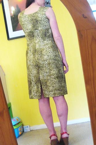 leopard dress back