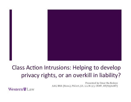 Class Action Intrusions: Helping to develop privacy rights, or an ove…