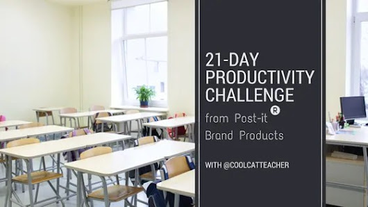 Take the 21-day Productivity Challenge #makeitstick