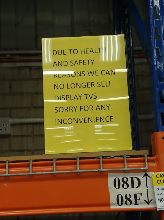 """Due to health and safety reasons………."""