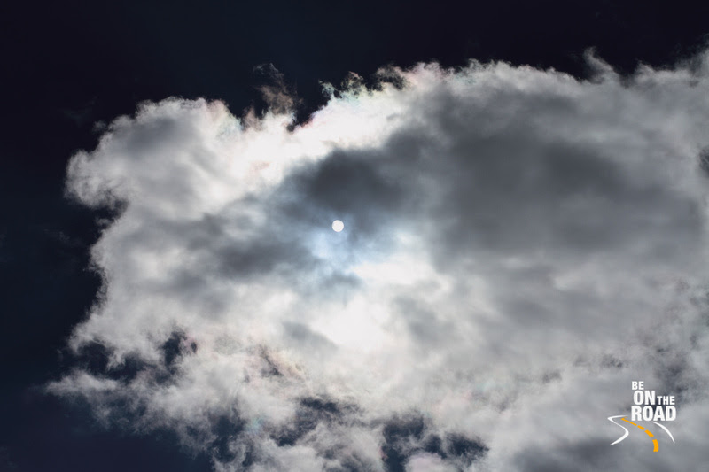 Clouds cover the sun