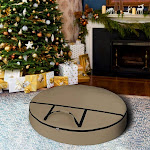 Covers & All Wreath-Max-Beige-05 12 oz Christmas Wreath Storage Bag with Carrying Handle & Dual Zipper Beige - 40 in. dia. x 7 in.