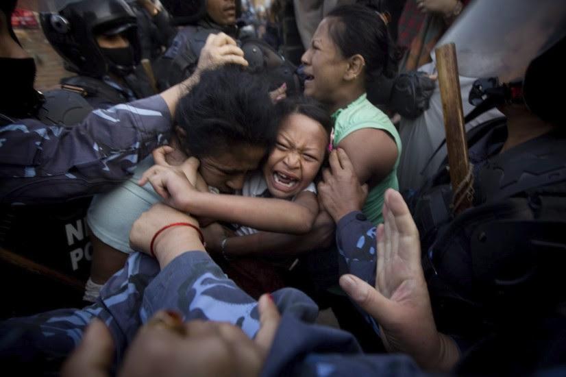Desalojo en Nepal