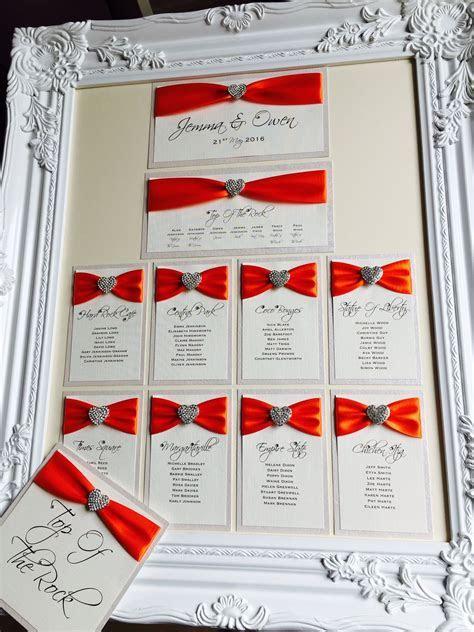 Framed Wedding Table Plans   Amor Designs