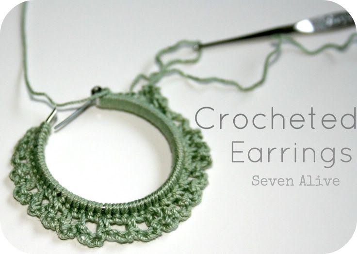 Seven Alive: Crocheted Earrings *Tutorial* - free crochet pattern