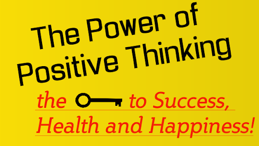 The Power of Positive Thinking Overcome Negative Thoughts