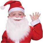 Child Santa Beard and Moustache