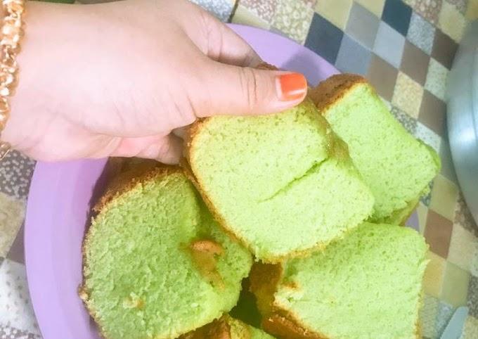 Resep Unggulan: Bolu pandan baking pan tanpa sp tanpa bp super lembut Enak Banget