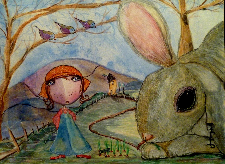Carrot Patch print 8 x 10 Garden Rabbit - ElementAlove