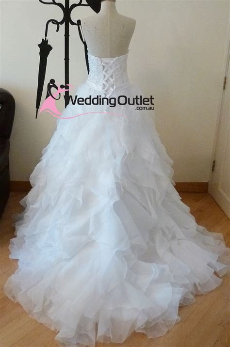 Ellie Ruffle Wedding Dresses Custom Made ab 24