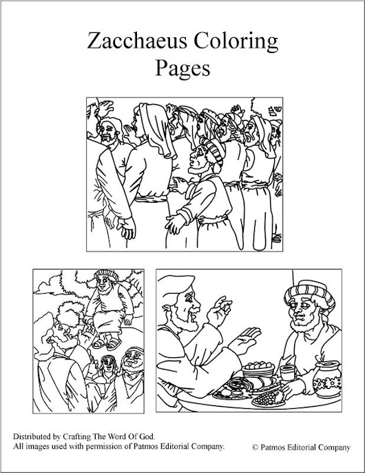 franco zacchaeus coloring pages - photo#12