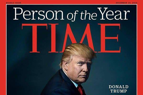 Le président désigné des États-Unis, Donald Trump, a été désigné «Personnalité...