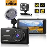 1080P Dash Cam Dual Lens DVR Car Dashboard Camera Video Recorder G-Sensor