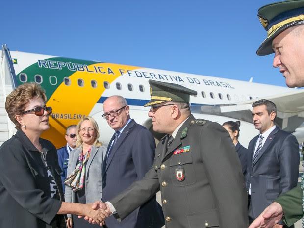A presidente Dilma Rousseff chegou à Turquia na manhã deste sábado para reunião do G20 (Foto: Roberto Stuckert Filho/Presidência)