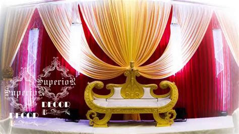 how to make wedding backdrop BY SUPERIOR DECOR   YouTube