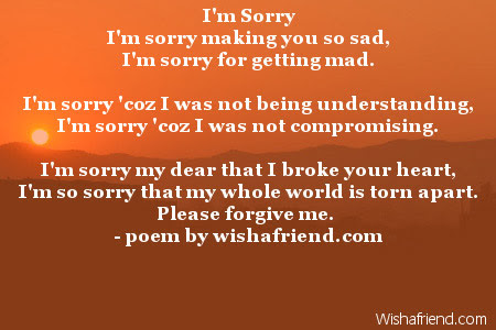 Sorry Poems