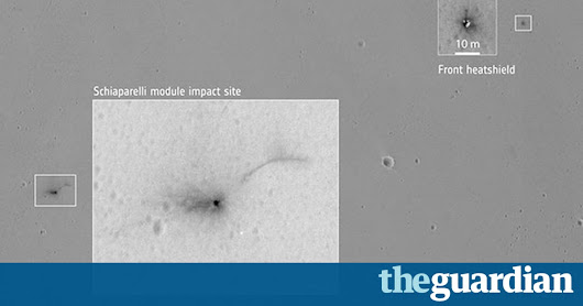 Mars lander's catastrophic crash: new images released | Science | The Guardian