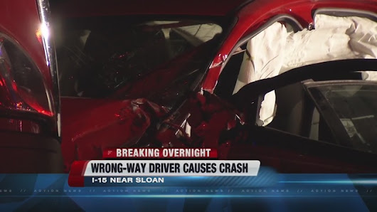 Wrong-way driver crashes on I-15 near Primm