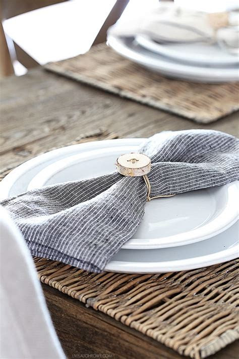 Birch Napkin Rings   Simple Rustic DIY   Live Laugh Rowe