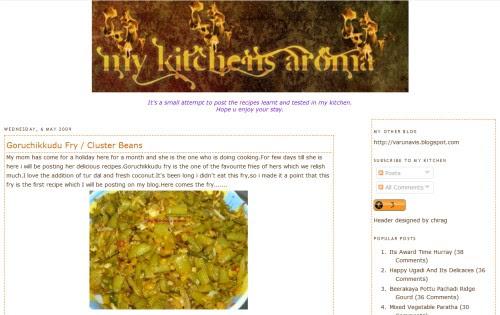 My Kitchen's Aroma