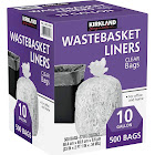 Kirkland Signature Clear Wastebasket Liners, 10 Gal - 500 count