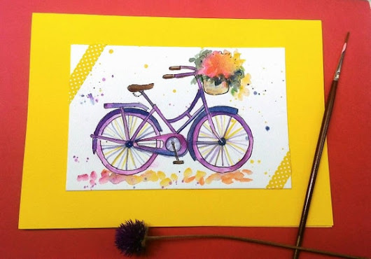 Handmade original greeting card by WatercolourbyCharu on Etsy
