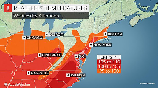 Dangerous heat wave to persist in northeastern US much of this week